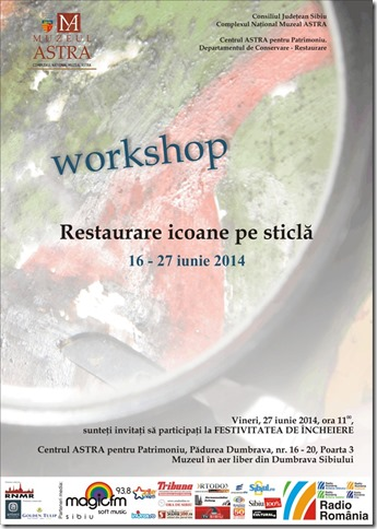 Afis Workshop de restaurare icoane