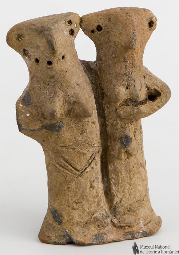 Statuetă antropomorfă_neo-eneolitică_cultura Gumelnița_a doua juma. a mil. V. î. Hr._MNIR