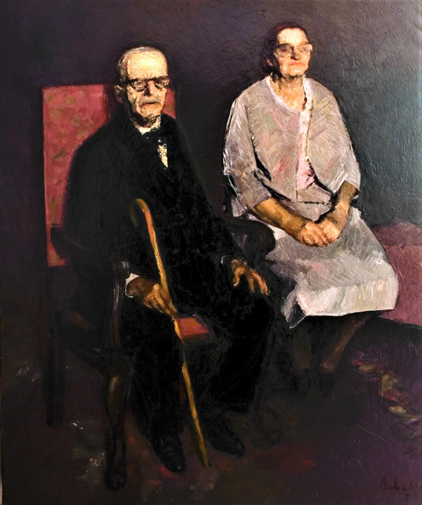 C. Baba - Tudor Arghezi si sotia - 1951