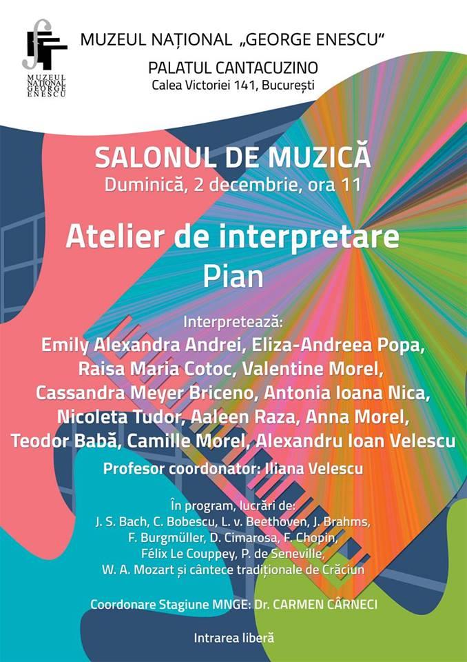 Atelier De Interpretare Pian La Muzeul Național George Enescu